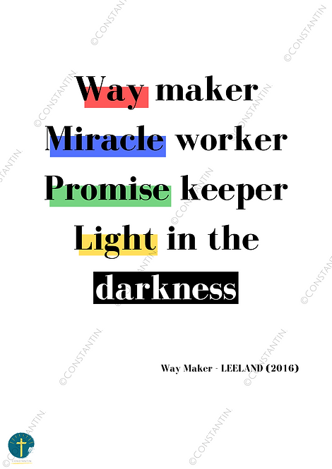 Way Maker - Blanc - A4