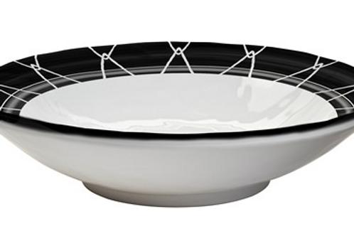 Black and white salad bowl set/2