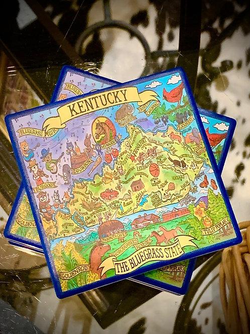 Kentucky Coaster set of 4
