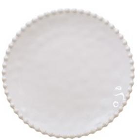 Round cream serving tray