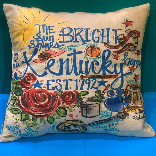 My Old Kentucky Home Pillow