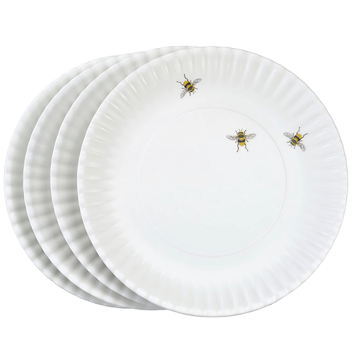 Bee Melamine Plates Set Of 4