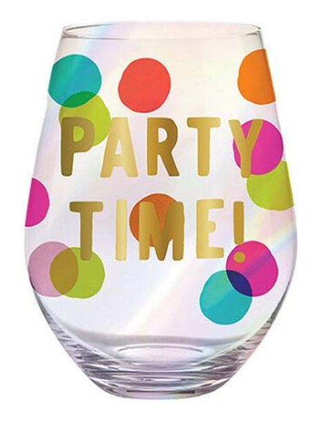 Jumbo Party Time Wine Glass