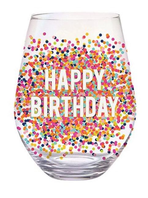Jumbo Happy Birthday Wine Glass