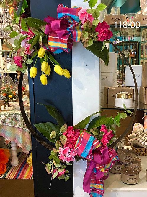 Tulip barrel ring wreath