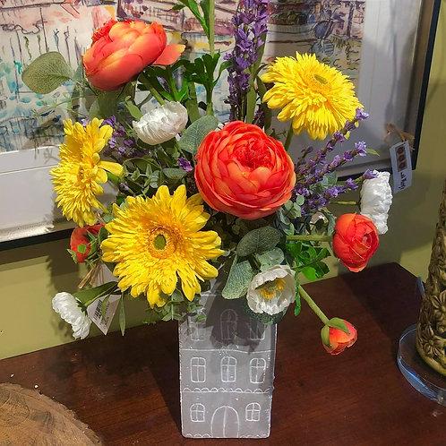 Floral Arrangement in House Vase