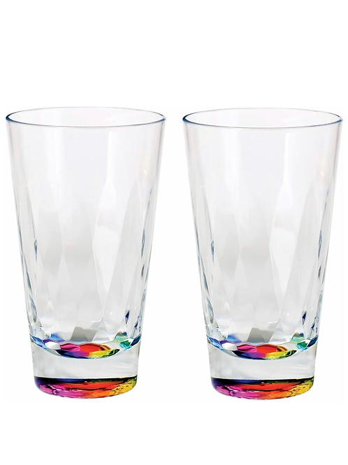 Set of 2 rainbow radiance tumbler