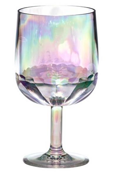 Iridescent wine glass set/2