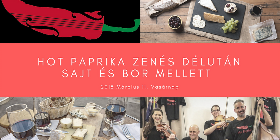 Wine and Cheese night with Hot Paprika