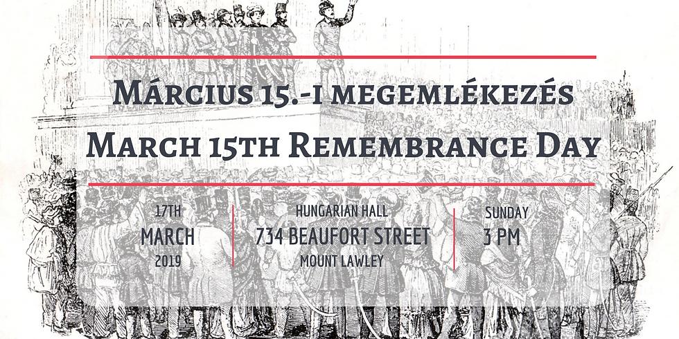 Március 15.-i megemlékezés / March 15th Remembrance Day