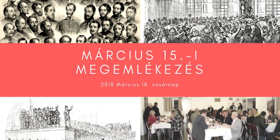 Március 15.-i megemlékezés / Remembrance Day - 15th March