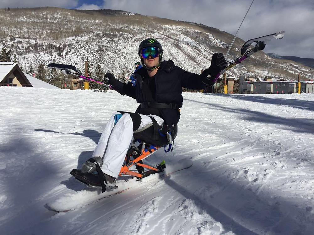 Sebastian Learning to Mono-ski after a SCI.