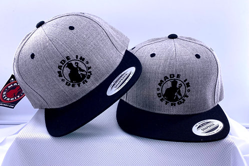 Made in Detroit Heather/Black Snap Back