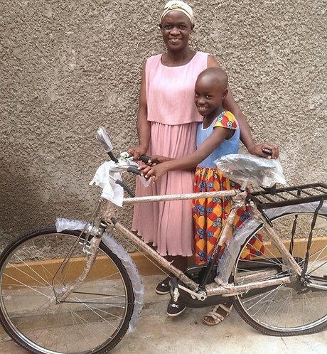 An adult push Bike
