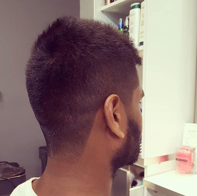 I do men's hair also! #menscut#taper#fad