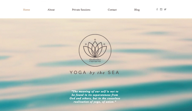 Wellness website templates – Yoga Studio