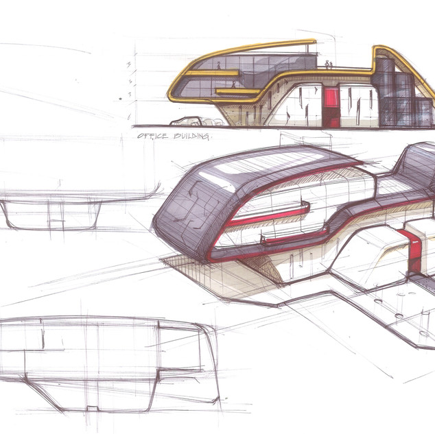 Concept Building Design # 02 - designed by Sebbahi Solutions Ltd.
