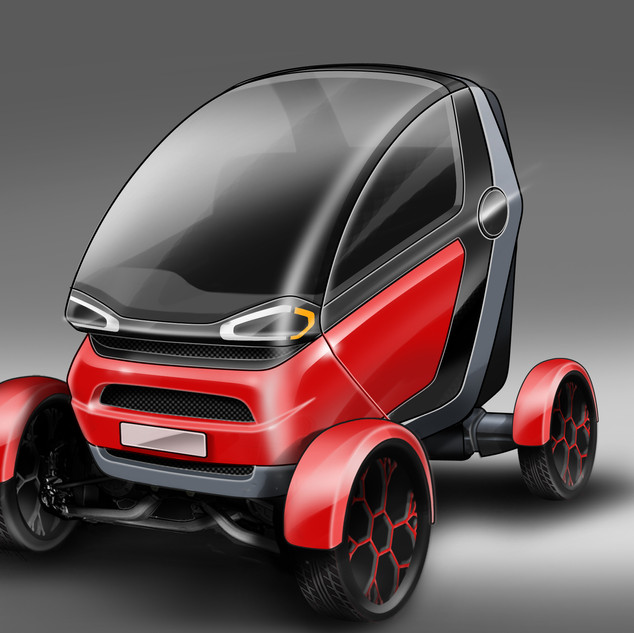 Compact Vehicle Concept Design image 1 – Car design by Sebbahi Solutions Ltd.