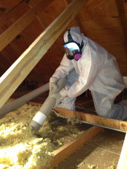 Insulation-Removal-from-an-attic