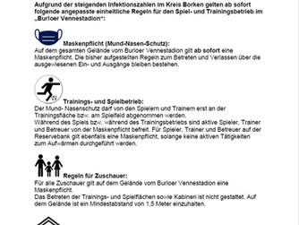 Aktuelle Corona-Regeln am Sportplatz - 20.10.2020