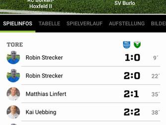 1.Mannschaft – knappe Auswärtsniederlage in Hoxfeld