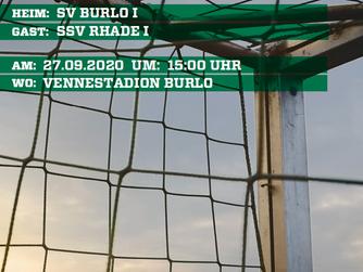 Unsere 1.Mannschaft spielt am Sonntag im heimischen Vennestadion