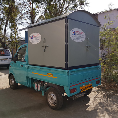 Enclosed in CRCA Canopy fitted on vehicle