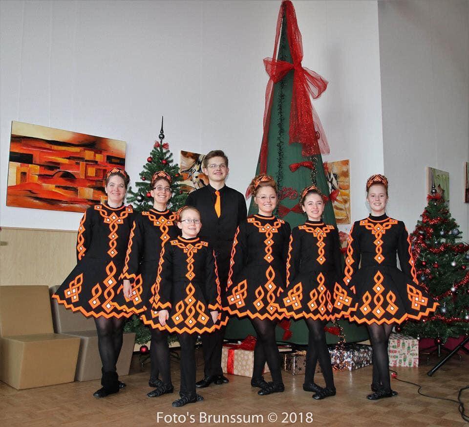 Christams photo Irish dancers