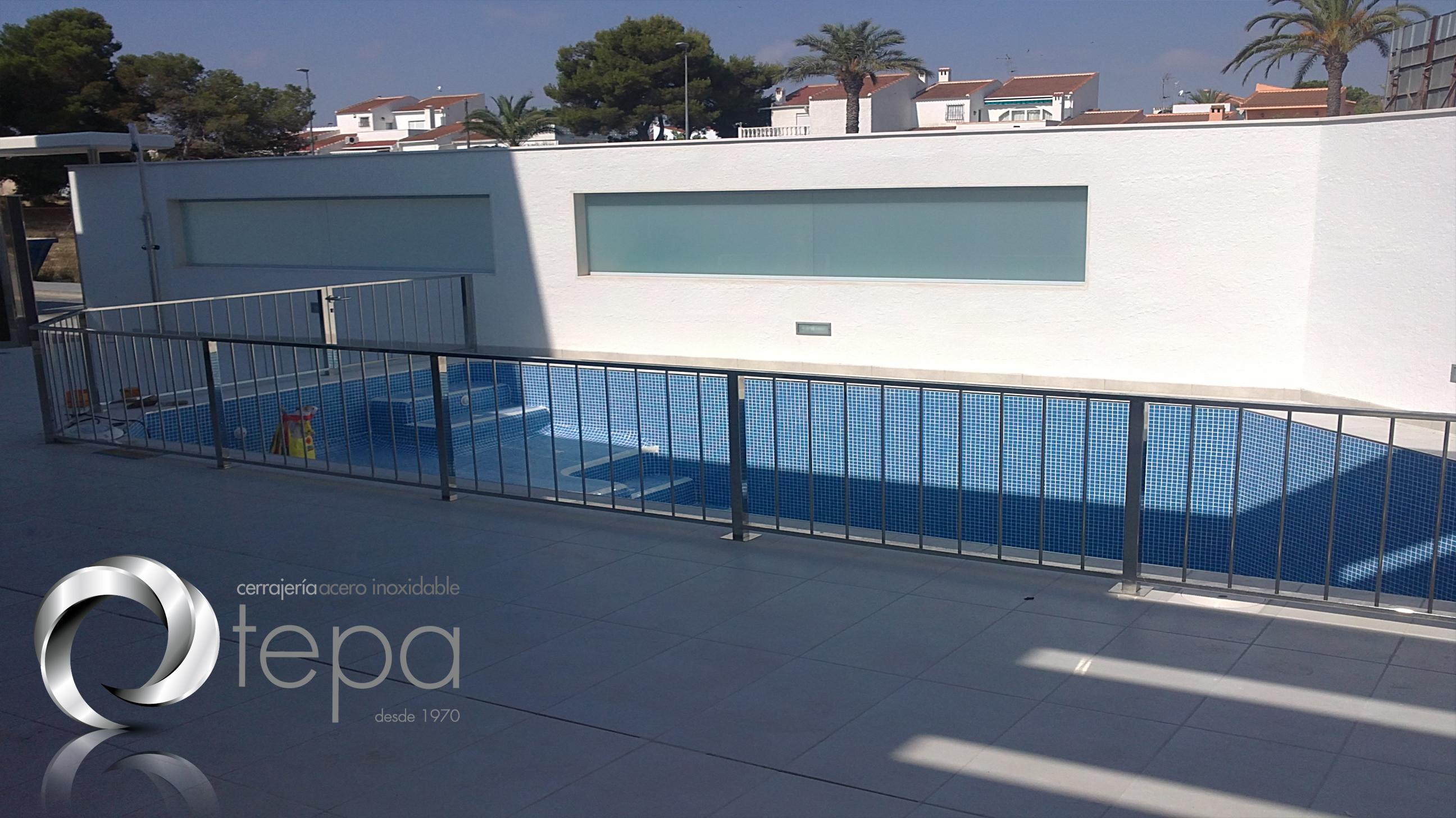 baranda piscina