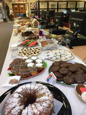 Delicious dessert buffet for the faculty - happy spring!