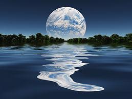 Terraformed Moon from Earth or Exo Solar