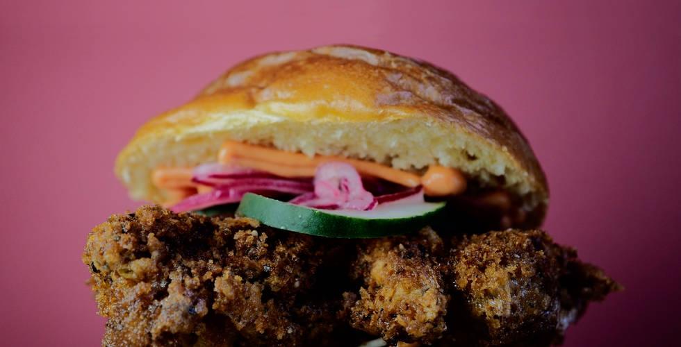 Pigs Cheeks Katsu Burger