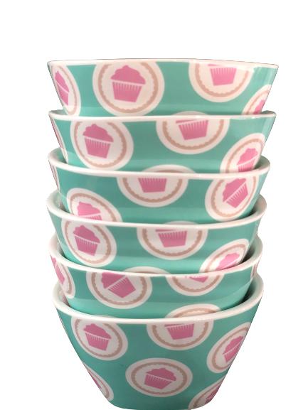 Schaaltjes lily's cupcakes (blauw/groen)