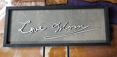 Custom Handwriting Sign