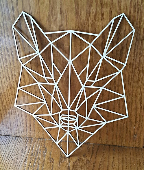 Wooden Wolf Outline