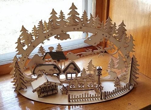 Nativity Village Schwibbogen