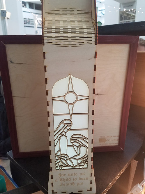 Wine Box Lantern - Nativity