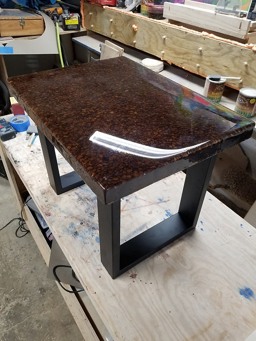 Coffee...Table (Resin coffee bean table)