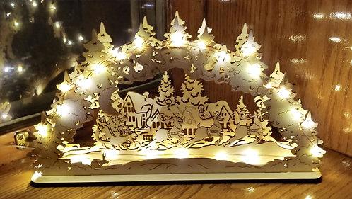 Santa's Sleigh Schwibbogen