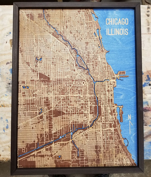 Chicago Downton Map