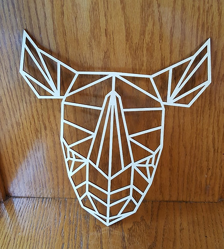 Wooden Rhino Outline