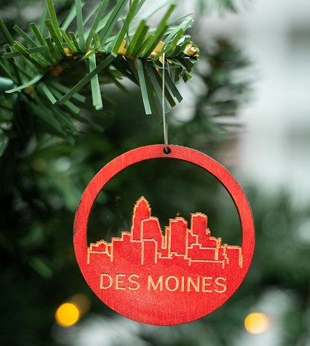 Des Moines Skyline Ornament