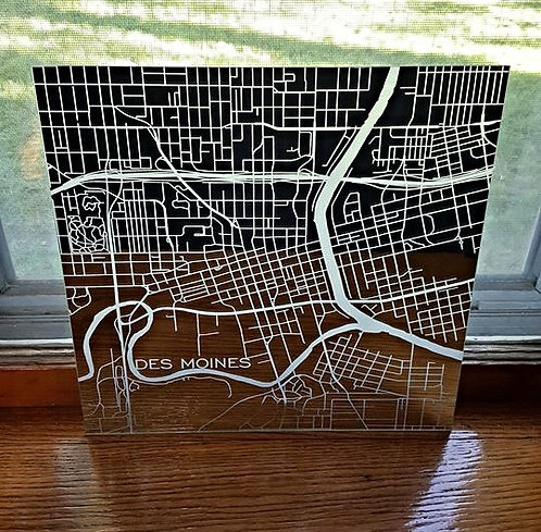 Etched Mirror Map