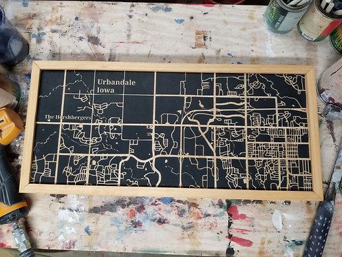 Urbandale, IA wood map