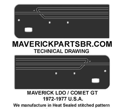 MERCURY COMET GT 1972-77 - MAVERICK LDO (U.S.A. Original Design)