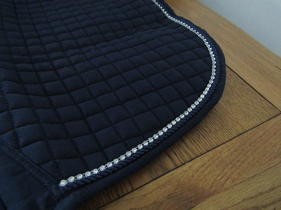Brillare Diamante Trim Close Contact Saddlepad Navy