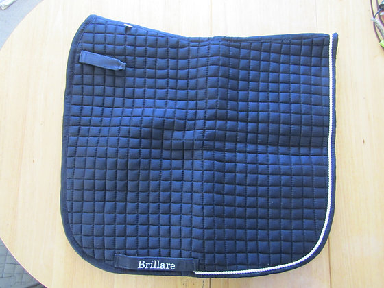 Brillare Plain Dressage Square Navy with White