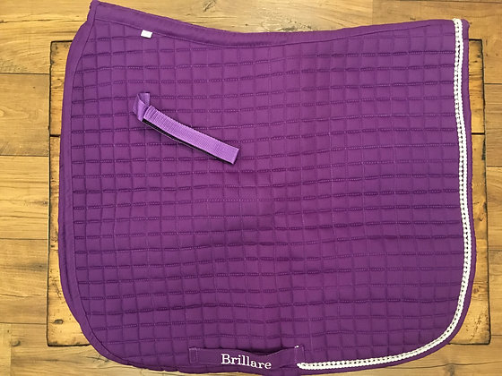 Brillare Diamante Trim Dressage Square - Purple with white