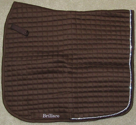 Brillare Diamante Trim Dressage Square Walnut