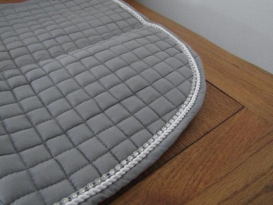 Brillare Diamante Trim Close Contact Saddlepad Grey with white